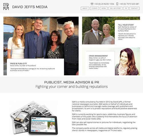 Bespoke Website Design for a London Publicist
