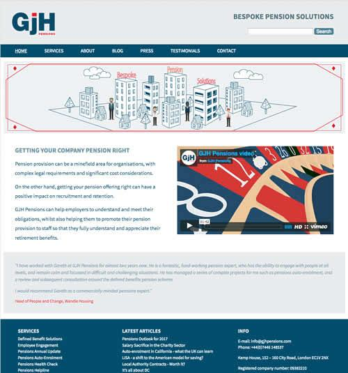 Website Design for a Pensions Company