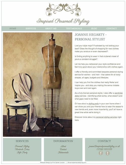 Website Design for a Personal Stylist in Wimbledon